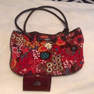 Brighton Daisy Shoulder Bag w/Brighton Wallet